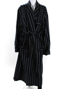 Brooks Brothers  Mens Wool  Striped Robe Blue Size Extra Large LL19LL