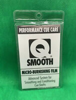 Smooth Micro-burnishing Film Advance System For Smoothing And Condition Cue Shaf