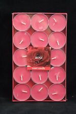 30 x Rose Fragrance Scented Tea Light Candles - 4 Hours Burn Time - Free Post