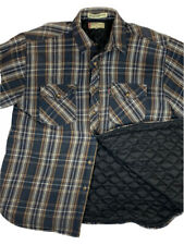 """Men's LEVI""""S Plaid Flannel Shirt Jacket Quilted Lining Lumberjack Large L"""