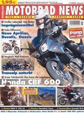 MN0801 + HONDA CBF 600 (PC43) + MAXI-Test BMW R 1200 GS + MOTORRAD NEWS 1/2008