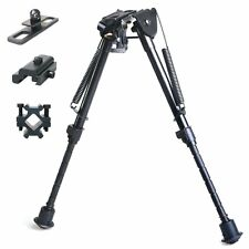 "9"" to 13"" Adjustable Bipod for Tactical Airsoft Air Rifle Gun Hunting +3 adapter"