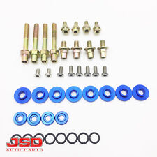 Racing Blue Aluminum B16 B18 B-Series Valve Cover Washer Seal Bolt Nut Kit