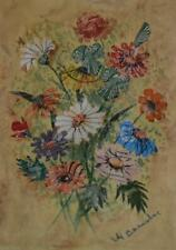 LOVELY RARE 1930S MABEL BARNSBEE (1892-1980) POSTAGE STAMP ART FLOWER BOUQUET #1