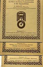 FASCICULES TECHNOLOGIE AUTOMOBILE. N° 4 6 & 7. G. BASTAUD. DELAGRAVE 1948.