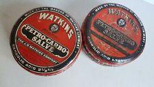 Watkins Lot Salve Medical Tin Vintage 4.5 Inch
