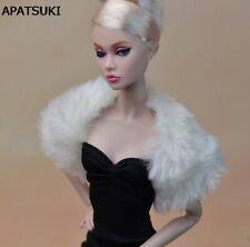 Fashion White Long Plush Shawl Pashmina For 1/6 Dolls For Monster High Dolls Toy