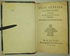 SILII ITALICI DE BELLO PVNICO - BUSCHIJ 1598