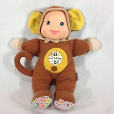 Goldberger Baby's First Sing and Learn Doll Monkey