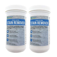 2 Pack Swimming Pool & Spa Stain Remover - Natural & Safe, Works For Vinyl Liner