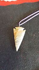 ARROWHEAD NECKLACE :  Real Stone, Hand Crafted  ( L )  Great mixed colors