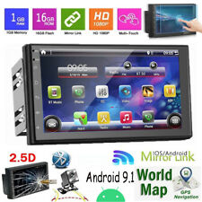 7 Inch Autoradio 2 Din Android 9.1 GPS Navi WiFi Radio coche MP5 Bluetooth FM