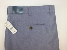 NWT $69 BROOKS BROTHERS 40 Men's Flat Front Chambray Blue CLASSIC FIT Short