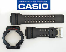 Casio GA-110 Genuine Watch Band & Bezel Rubber Strap  Black G-Shock GA-110-1A