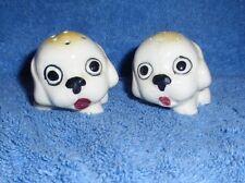 Ceramic Puppy Salt & Pepper Shakers Japan