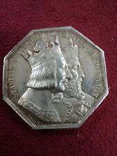 Sp JETON MEDAILLE argent notaire du HAVRE ST LOUIS CHARLEMAGNE 1844 DUBOIS N132