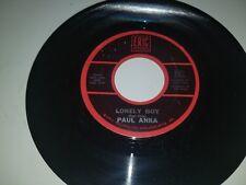 "PAUL ANKA Lonely Boy / I Miss You So ERIC 201 45 VINYL 7"" RECORD"