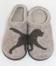LL Bean Dog Slippers Wool Sz 6M Fleece Lined Mules Clogs