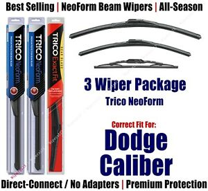 3-Pack Wipers Front & Rear NeoForm - fit 2007-2012 Dodge Caliber 16240/170/10-1