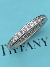 Tiffany & Co Platinum Full Circle Diamond Eternity Channel Band Ring .62 TCW