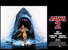 "JAWS 2 1978 repro quad poster 30x40"" inch Roy Scheider  Lorraine Gary FREE P&P"