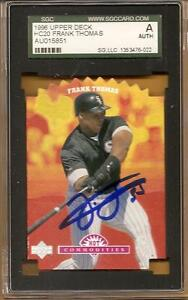 1996 CHICAGO WHITE SOX signed FRANK THOMAS hot commodities - AUTHENTICATED - HOF