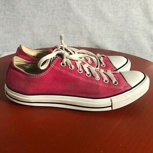 Converse All Star Chuck Taylor Men's Size 10.5 Shoes Pink White Low Top Sneakers