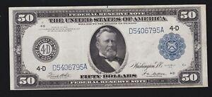 US 1914 $50 FRN Cleveland FR 1039a XF (795)