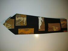Vtg 60's Christian Dior Risque Pin-up Brown & Orange Tie