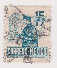(MCO-293) 1947 Mexico 15c blue post man (B)
