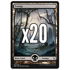 20 Amonkhet FULL ART Swamp # 252 - MTG Basic Land Lot Magic the Gathering