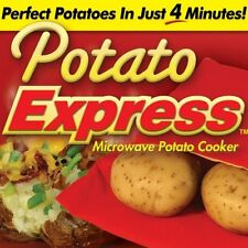 2 Bags New Potato Express Microwave Cooker 4 Minutes Fast Reusable Washable ASTV