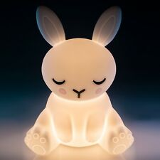 ~❤️BUNNY NIGHT LIGHT Rabbit Rechargeable USB Soft glow Cool touch lamp LED~❤️