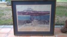 Large Original Authentic, Russa Graeme, Water/Mountain Landscape Etching $6564