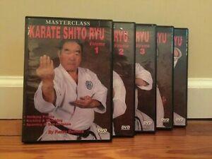 MASTERCLASS KARATE SHITO RYU TRAINING SERIES (5) DVD Set self defense striking