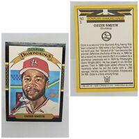 2001 Donruss Diamond Kings Ozzie Smith Baseball Card