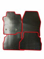 VW GOLF MK5 GTi TDi 2004-2007 - TAILORED DURABLE CAR MATS RUBBER WITH RED TRIM