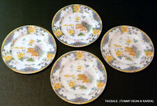 """4 pcs Nice Royal Doulton Rich & Fisher china 4 Bread & Butter Plates ~ 6"""""""