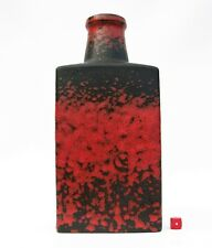 Scheurich 281-30 Bottle Vase Fat Lava Era West German Mid Century Modernist