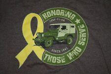 Jeep CJ-2A Tshirt Veterans Yellow Ribbon Brown Size M