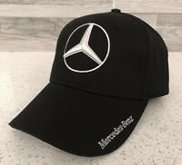 b46a0bc363d7a Mercedes Benz Hat 3D Logo Adjustable Hat Cap Men Women (Black) New In Bag