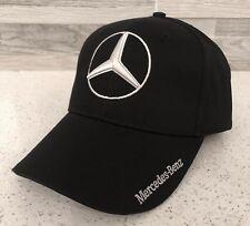 Mercedes Benz Hat 3D Logo Adjustable Hat Cap Men Women (Black) New In Bag