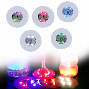 Changing LED Light Up Coasters Drinks Mats Base Beer Bottle Vase Party