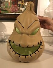 Disney Nightmare Before Christmas LARGE OOGIE BOOGIE LED Light Up Pumpkin JOL