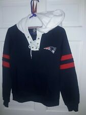 New England Patriots football Hooded Sweatshirt NFL apparel Hood Shirt :Ladies M