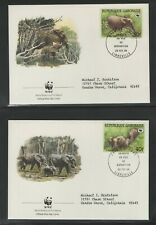 GABON 1998 (4) FIRST DAY COVERS WORLD WILDLIFE FUND ELEPHANTS