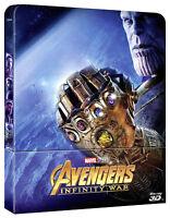 AVENGERS 3 Infinity War STEELBOOK EDITION (2 BLU-RAY 3D + 2D) MARVEL STUDIOS
