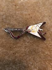 Hard Rock Cafe San Diego Orginal Dead Rocker Guitar Pin Jimi Hendrix Silver