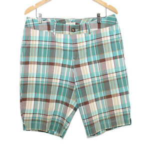 ST. JOHNS BAY Stretch Cotton Blend Plaid Bermuda Multi Color Shorts - Size 14