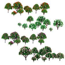 40pcs Model Flower Trees Model Train Park Trees for HO or N Z Scale Scenery